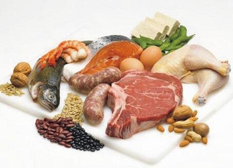 продукты питания богатые белком