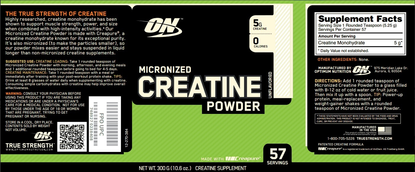 a description of creatine as a nutritional supplement that falls under the broad category of product