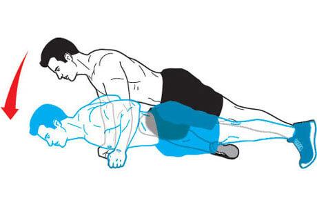с подтягиванием колена