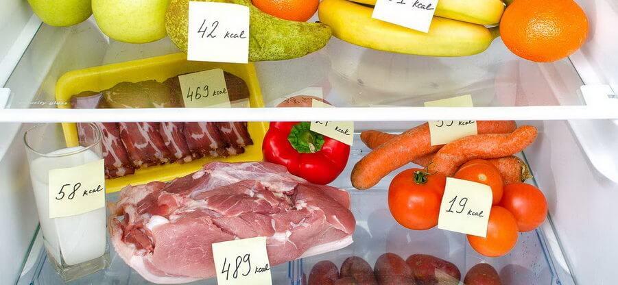 Таблица калорийности продуктов питания и готовых блюд для похудения на 100 гр