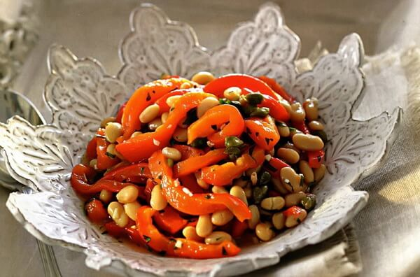 Болгарский перец и фасоль