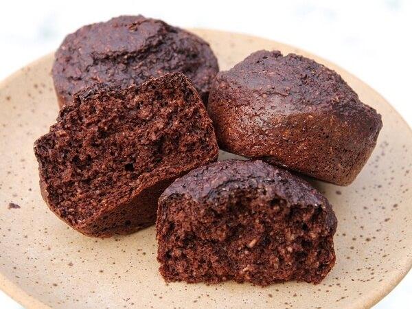 Кексы шоколадные из овсяных отрубей