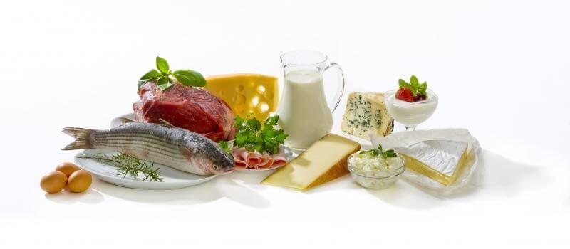 Список белковых продуктов для для похудения, таблица калорийности