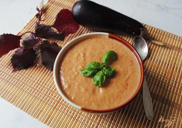суп пюре диетический рецепт с баклажанами